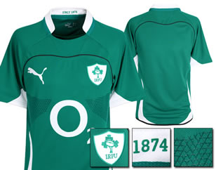 New Puma Irish Rugby Jersey