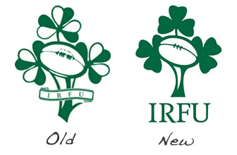 Old v.s. New Irish Rugby Logo